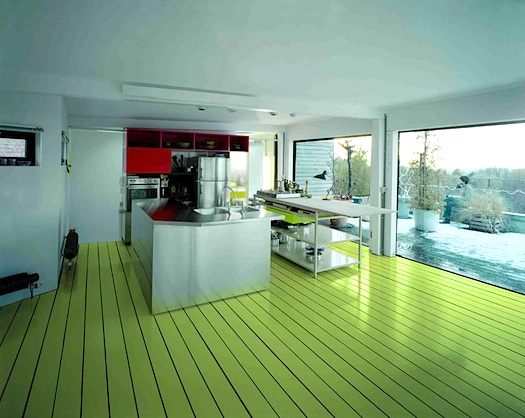 Green Floor color outside the lines – myhome design + remodeling