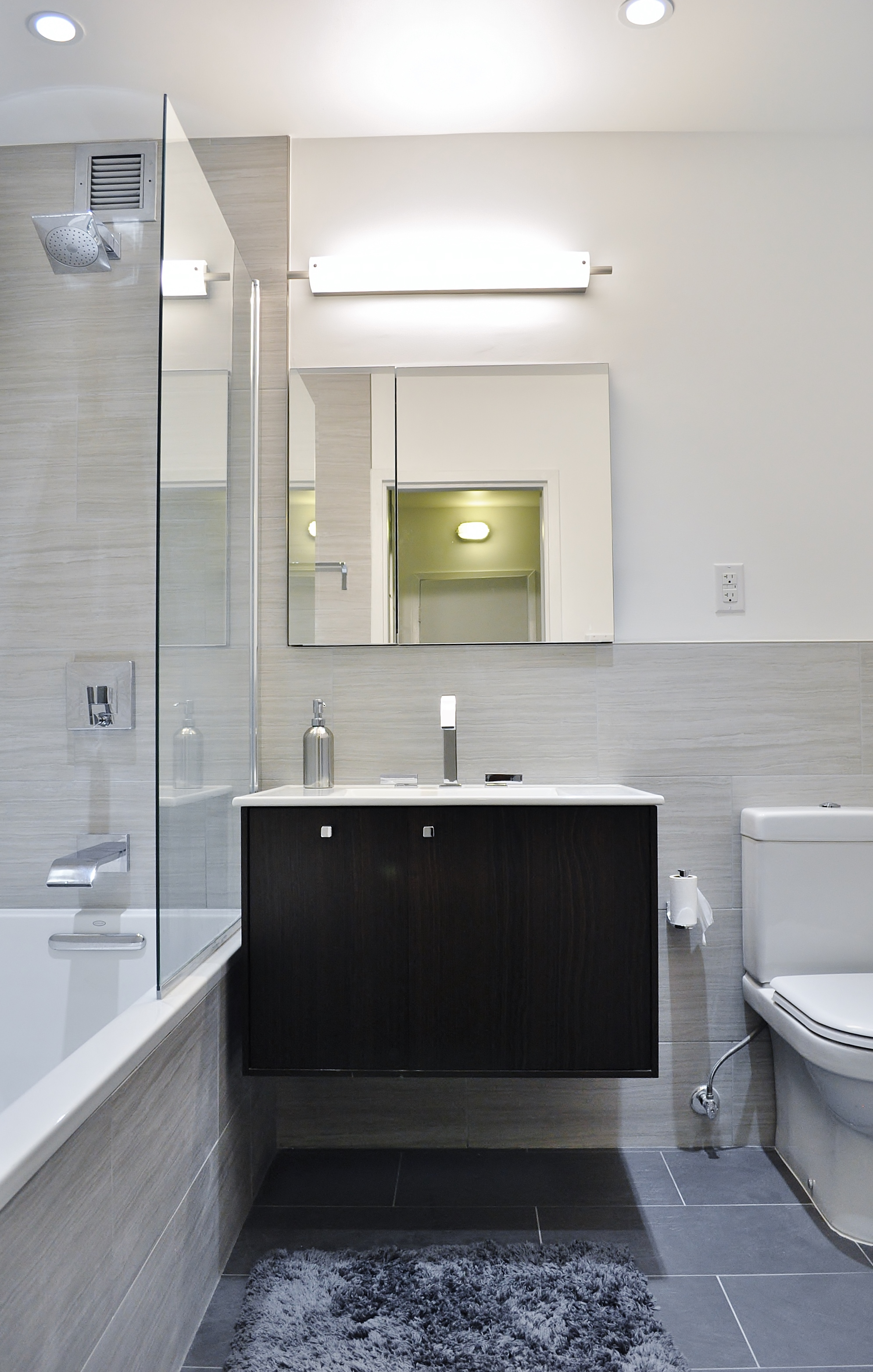Bathroom Remodel Nyc shiny & chic white, contemporary nyc kitchen (before & after