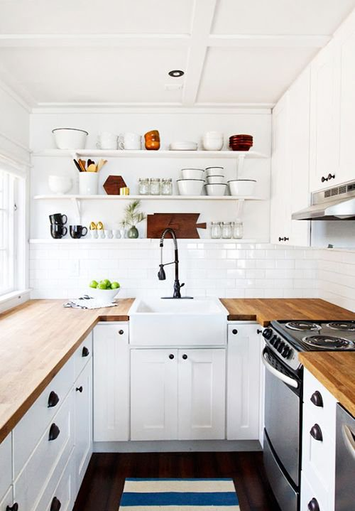 lovely Kitchen Design Nyc #6: small kitchen design ideas - open shelves ...