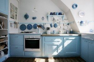 The Winter Blues: Blue Beautiful Kitchens