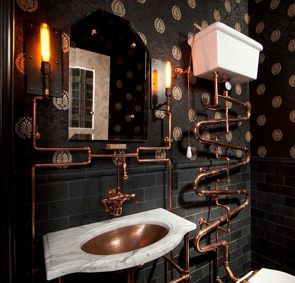 Beautiful Copper Tubing Bathroom, Who Doesnu0027t Love Crazy Shiny Stuff? Part 15