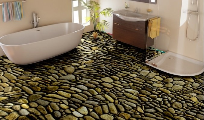 Unique flooring ideas you can customize with your own image!