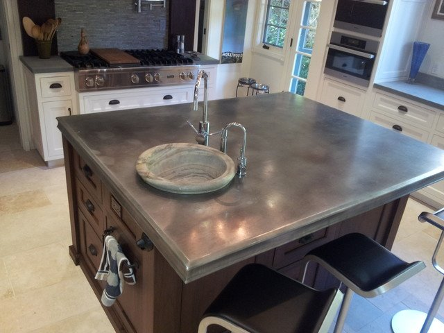2015 countertop options that are better than ever for Kitchen zinc design