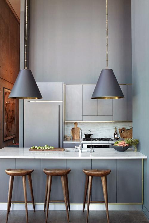 gold brass kitchen design trends 2015
