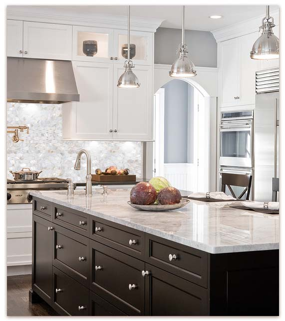 Mother Of Pearl Kitchen Tile Backsplash