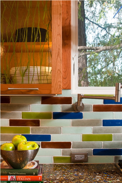 earth friendly kitchen tile backsplash idea