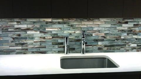 Installing Glass Subway Tile Backsplash In Kitchen