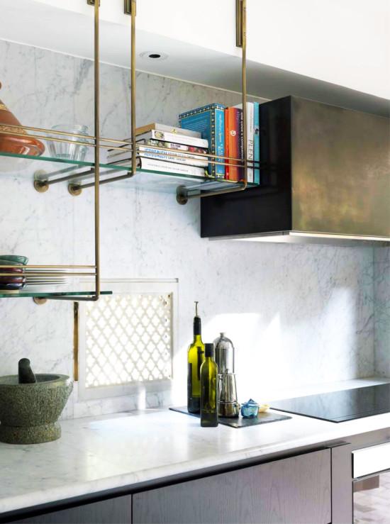kitchen trend brass shelving