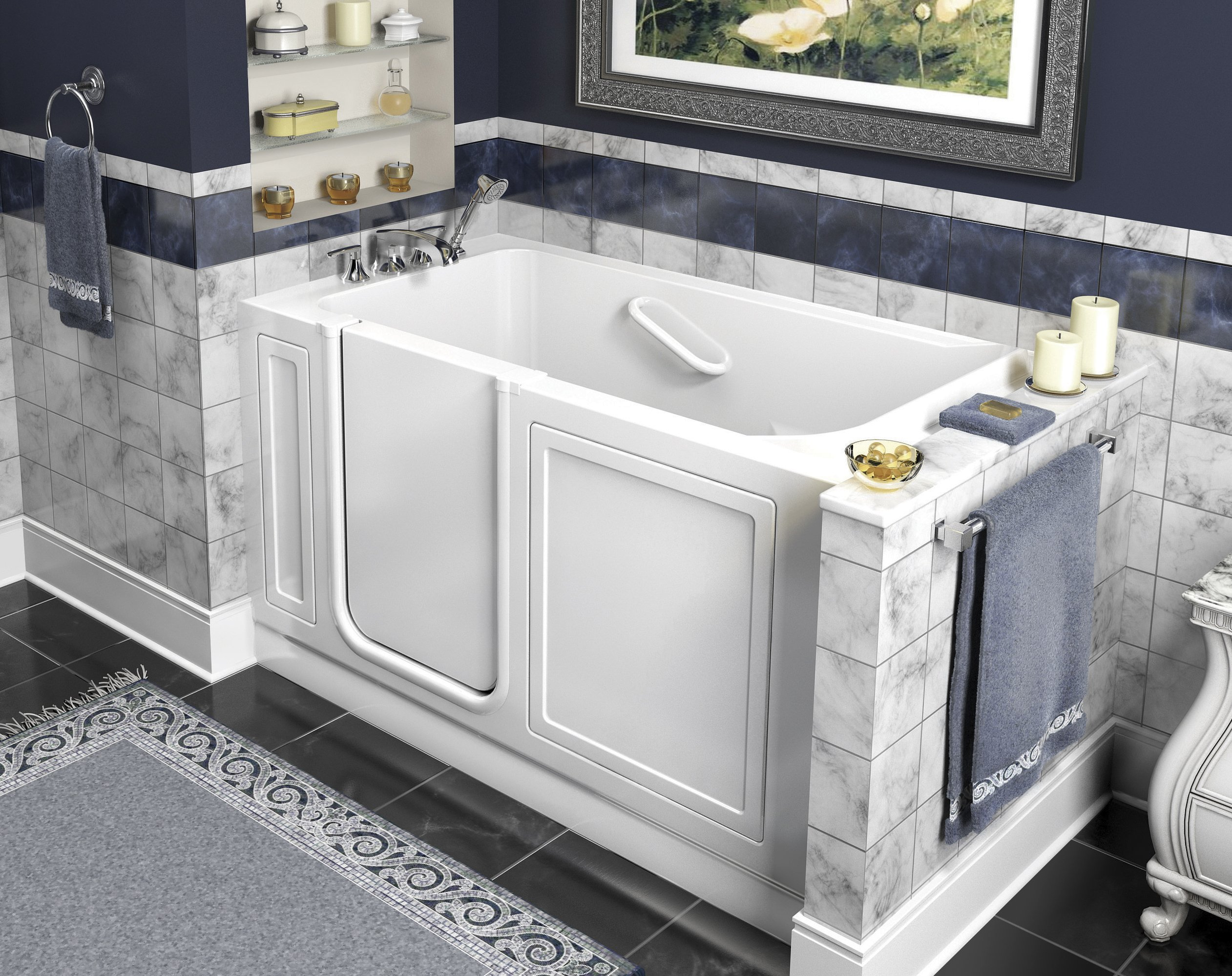 Extraordinary Walk In Tub With Shower Surround Contemporary - Best ...