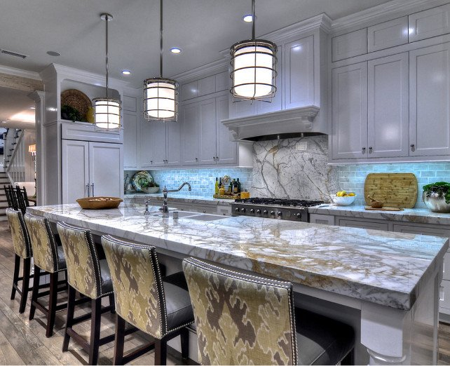 Kitchen. KItchen With Marble Countertop.
