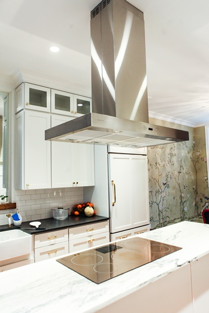 Industrial Modern Kitchen with Beautiful Gold Fixtures