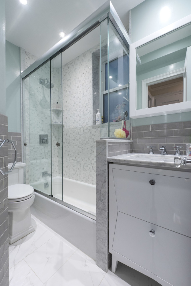 Awesome Average Cost Of Bath Fitters Big Dual Bathroom Sink Rectangular Ugly Bathroom Tile Cover Up Mirror For Bathroom Walls In India Youthful Gray Bathroom Vanity Lowes BlueHome Depot Bath Renovation 164 West 79th Street \u2013 MyHome Design   Remodeling