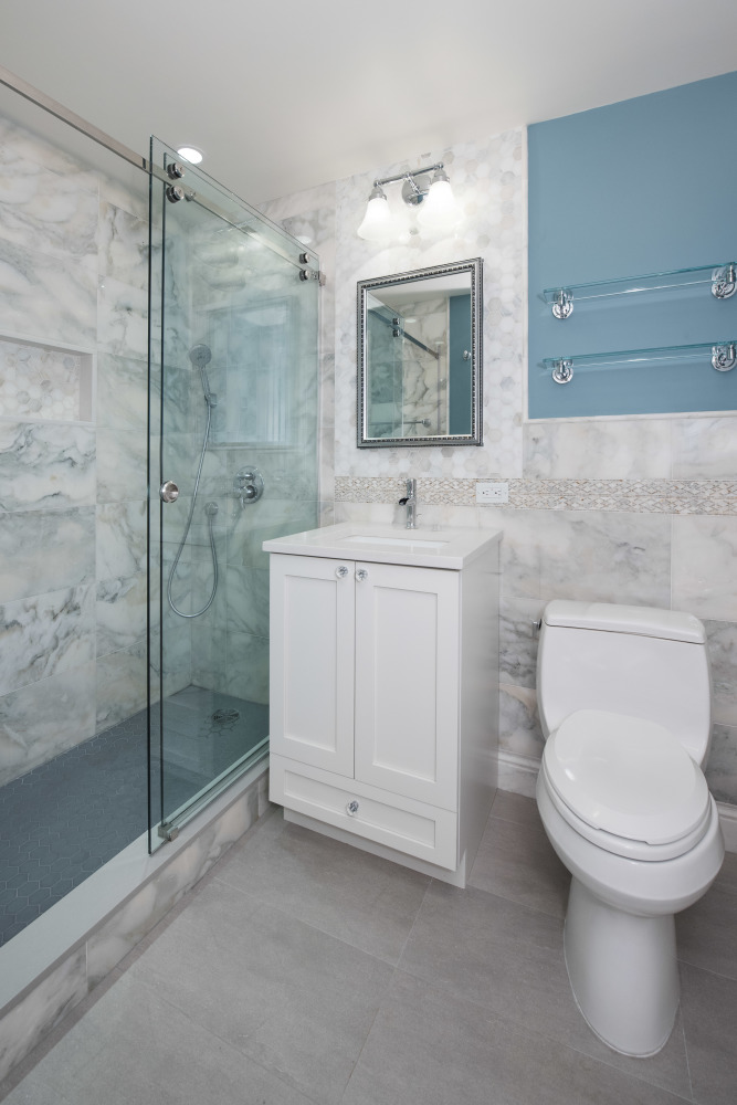 Pretty Average Cost Of Bath Fitters Tiny Dual Bathroom Sink Clean Ugly Bathroom Tile Cover Up Mirror For Bathroom Walls In India Old Gray Bathroom Vanity Lowes WhiteHome Depot Bath Renovation 170 East 87th Street \u2013 Project # 2 \u2013 MyHome Design   Remodeling